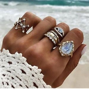 New! Women's Oceans Tide 4pc Ring Set